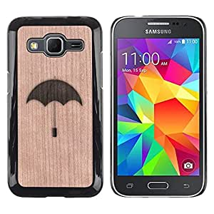 - / Umbrella Rain Meaning Deep - - Funda Delgada Cubierta Case Cover de Madera / FOR Samsung Galaxy G360 G3608 G3606 / Jordan Colourful Shop/
