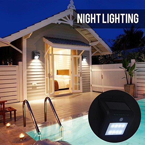 Solar Lights Outdoor, 8 LED Solar Motion Sensor Lights,IP64 Waterproof Motion Sensor Security lights for Garden,Yard,Porch,Landscape,Garage,Driveway Black