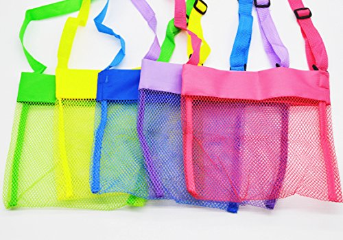 Mesh Beach Bags, W Fashion shop Seashell Beach Mesh Bags(Set of 5)