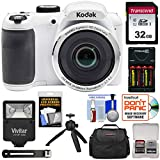 KODAK PIXPRO AZ252 Astro Zoom Digital Camera (White) with 32GB Card + Batteries & Charger + Case +...