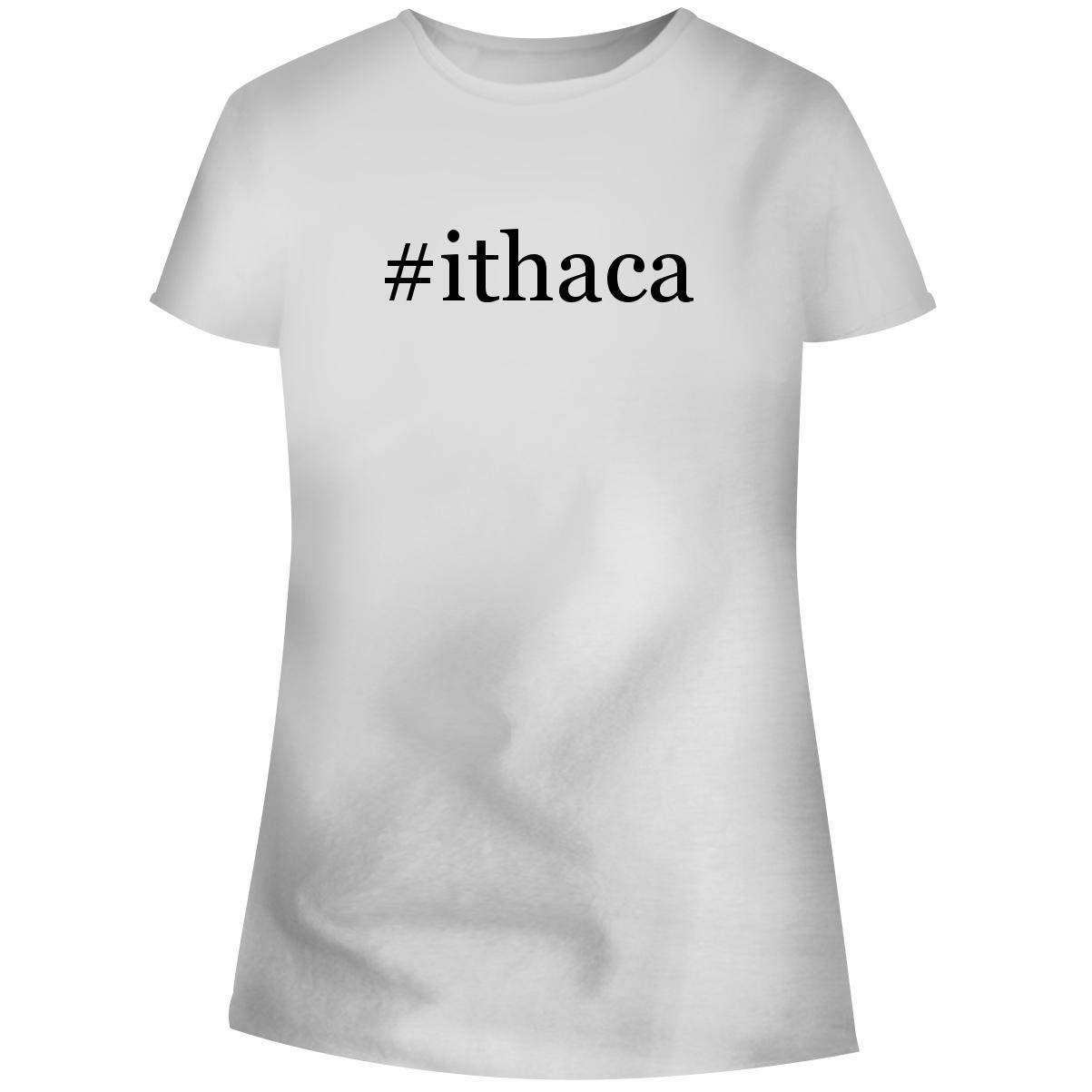 Ithaca Hashtag Soft Cut Adult Tee T Shirt 3229