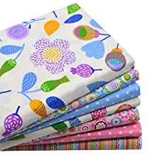 """iNee Floral Fat Quarters Quilting Fabric Bundles for Quilting Sewing Crafting, 18"""" x 22"""", (Floral)"""