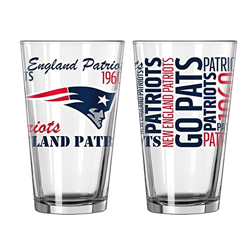 New England Patriots Official NFL 16 fl. oz. Spirit Pint Glass by Boelter