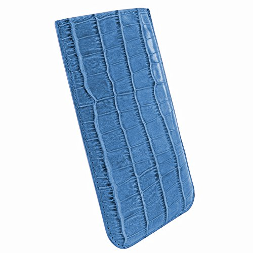 PIELFRAMA 690COB Pull Case Crocodile Apple iPhone 6 Plus in blau