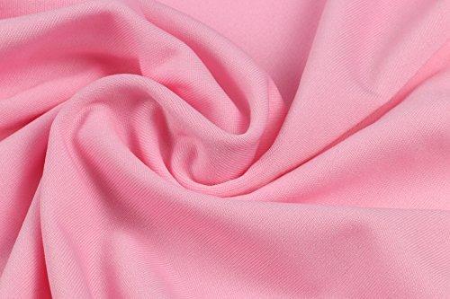 Abendkleid Damen Elegant Kurz Sommer Spitze Kleider Rundhals Ärmel Abschlusskleid A-Linie Plissee Bowknot Festkleider Swing Tailliert Slim Cocktailkleid Partykleid Minikleid Geschenke Für Frauen Pink FD1Yc4EKX