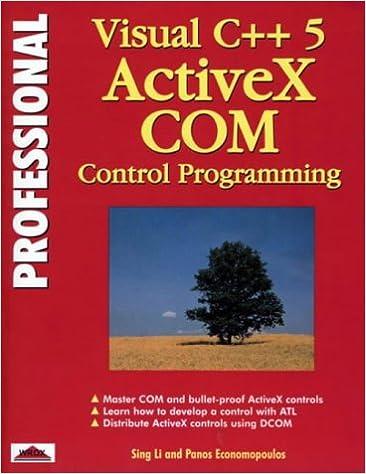 professional visual c 5 activex com control programming
