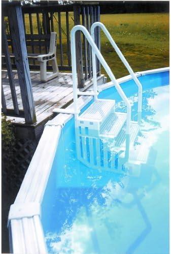 Escalera interior de resina para piscina con fondo plano H 1,22 m a 1,47 m: Amazon.es: Jardín