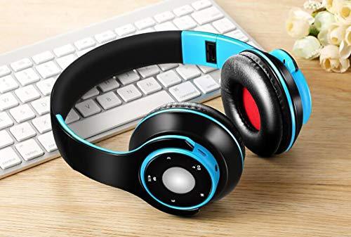 BALIYIN Noise Reduction Foldable Ergonomic Headphone Wireless Bluetooth Music Portable Headset (Blue)