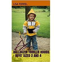 Bulldozer Toddler Hoodie - Boys' Sizes 2 and 4