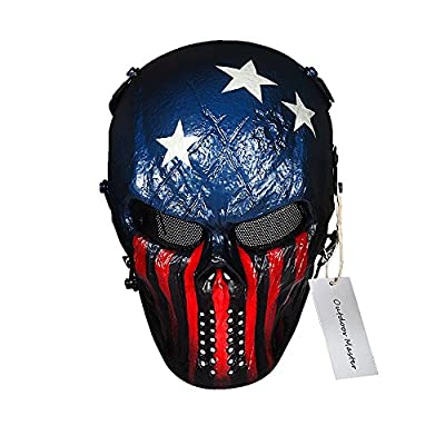 OutdoorMaster Skull Skeleton Airsoft/BB Gun/CS Full Face Protect Mask