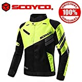 Scoyco With Hologram Sticker Jk36 Bike Protective Ce Certified Jacket,Black And Green, (Size-42)
