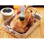 Prepara Basting and BBQ Brush Set 10 Heat resistant silicone squeeze brush and glass jar Neat and tidy way to brush a thin coat of oil, butter or sauce onto meat, fish, veggies or ribs Unique docking system for dip and go basting