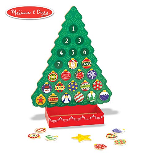 Melissa & Doug Wooden Advent Calendar - Magnetic Christmas Tree, 25 -