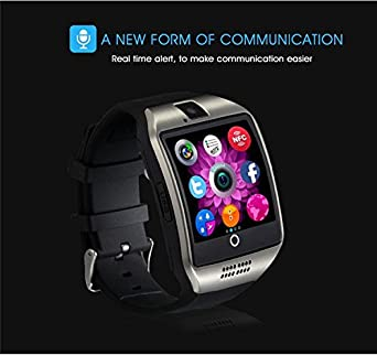 Amazon.com: Bluetooth Smart Watch Reloj Inteligente Q18 with SIM TF Card Slot NFC 1.3M Camera Video Facebook Twitter for Samsung Android/Apple IOS Phones ...
