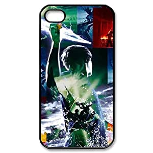 Qxhu Percy Jackson patterns Protective Snap On Hard Plastic Case for Iphone4,4S