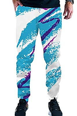 Leapparel Men/Women 3D Joggers Pants Trousers Sport Track Sweatpants Baggy