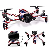 MightySkins Skin for Parrot Anafi Drone – Patriot | Protective, Durable, and Unique Vinyl Decal wrap Cover | Easy to Apply, Remove, and Change Styles | Made in The USA For Sale