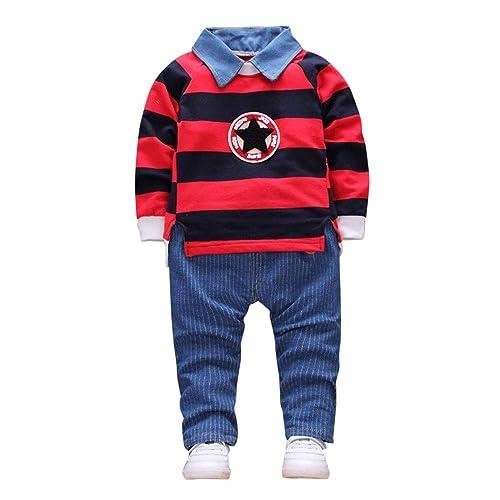 ღ UOMOGO Vestiti per Neonati 6 12 Mesi Abbigliamento Bambino Autunno Inverno Toddler Baby Boy Stile Lettera Cappuccio di Stampa Cime Modello Pantaloni