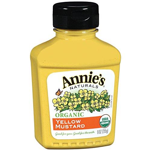Annie's Organic Yellow Mustard, 9-Ounces (Pack of 6) (Dijon Mustard Gluten Free)