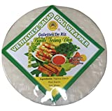 Peacock Brand Rice Paper Wrappers BIGGER SIZE (Round 25cm) - Premium Quality - Vietnamese Spring Roll (Goi Cuon) or Cha Gio (Egg Roll). Fryable Version