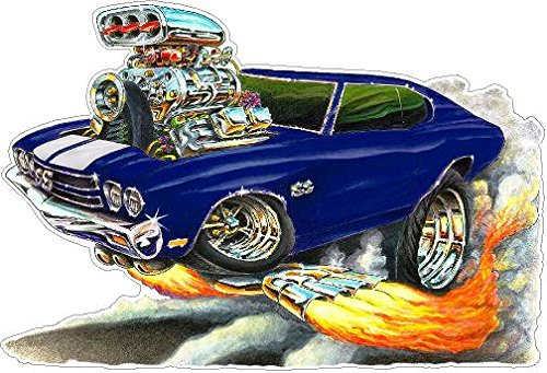 1970 Chevelle FB WALL DECAL 2ft long Vinyl Reusable Movable