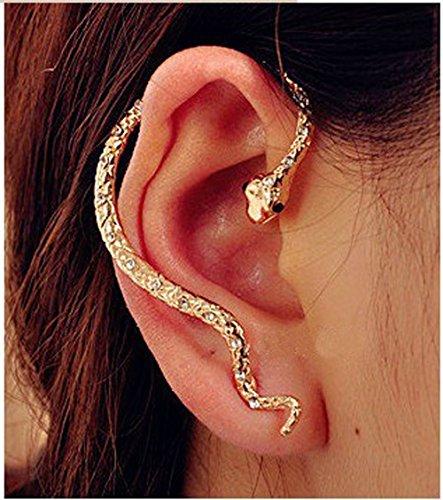 Cherryzz Special Fashion Gold Snake Ear Cuff Ear - Ear Cuffs Snake