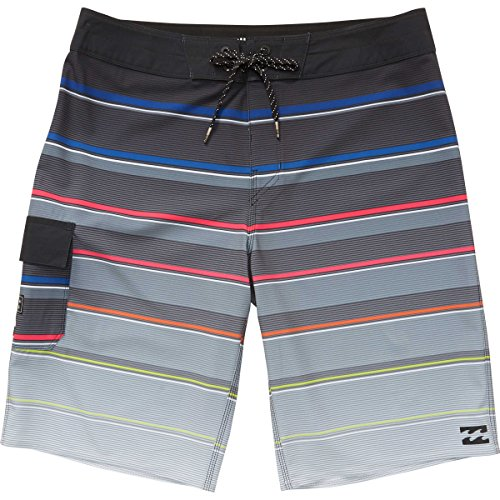 Billabong Boardshorts - Billabong Men's All Day X Stripe Boardshort, Stealth, 38