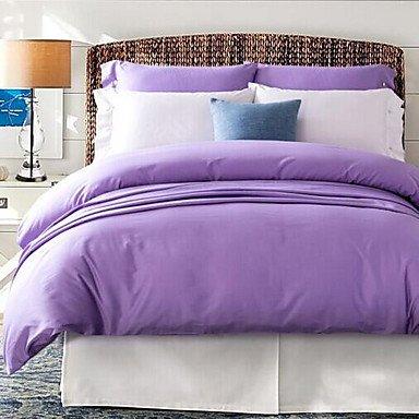WYFC Einheitliche Farbe 4 Stück 1 STK. Bettdeckenbezug 2 STK. Kissenbezüge 1 STK. Betttuch 200cm*230cm