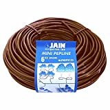 Jain PEPCO Growers Choice - (100' Roll) Mini 6''-Inch Spacing Drip Irrigation Soaker Hose Emitter Tubing .5 GPH Flow, (PREMIUM QUALITY VIRGIN POLYETHYLENE) Hydroponics & Garden Watering Line (Brown)