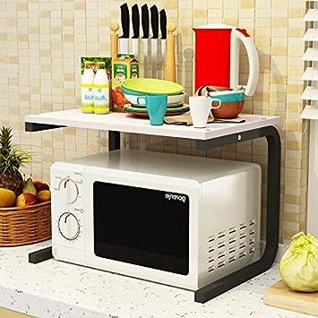 Estante de la cocina horno de microondas doble olla arrocera ...