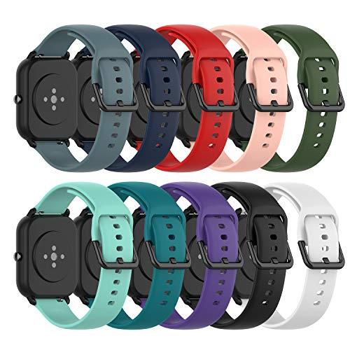 Ruentech Ersatzarmband Kompatibel mit Amazfit GTS/Amazfit GTS 2/Amazfit Bip/Amazfit GTR 42mm/Samsung Galaxy Watch 3 41mm…