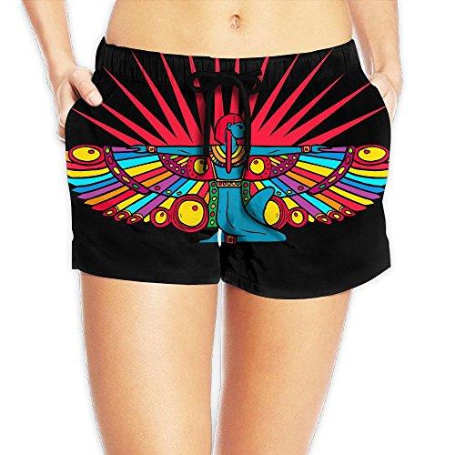 Beach Shorts Summer Egypt Cleopatra Dancing Rainbow Wings Hot Pants Swimming Trunks Tropical Hip Hop - Women Hot Tamil