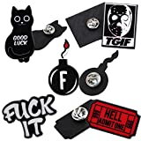 Expression Jewelry Set Of 5 Black Friday Sub-Culture Inspired Lapel Pins