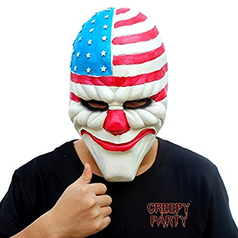 CreepyParty Deluxe Novelty Halloween Costume Party Latex Head Mask Clown1