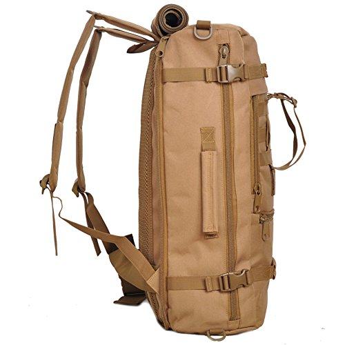 aofit 45L gran capacidad deportes al aire libre mochila multifuncional mochila de viaje mochila Militar ejército combate táctico mochila senderismo mochila, hombre, wolf brown wolf brown