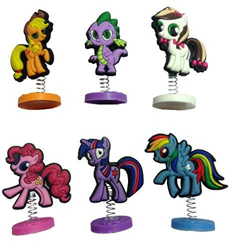 [Little Pony Mini Figures 6 Pcs Set #1] (Disney Tinker Bell Kids Sparkle Shoes)