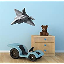 """24"""" F-22 RAPTOR JET #2 plane Navy Halo Air Force Wall Graphic Decal Sticker Mural Home Kids Game Room Art Decor NEW"""