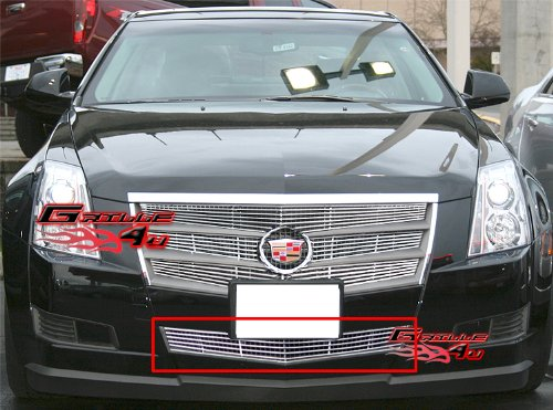 APS A65258A Polished Aluminum Billet Grille Bolt Over for select Cadillac CTS Models