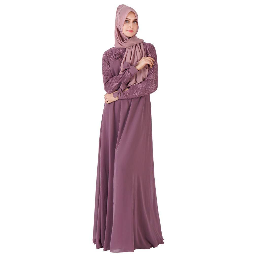 Muslim Abaya Caftan Dubai Dress for Women Islamic Clothing Rayon Gown Jalabiyas, Womens Sweatshirt Casual Hoodie Maxi Dress Kaftan Solid Vintage Abaya Muslim Robes Moroccan Gown by Yuege Dress