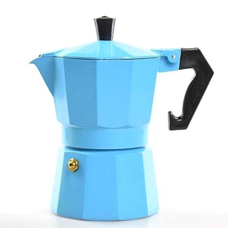 Ju&Lim Cafetera Espresso De 3 Tazas - Estufa Espresso Maker/Moka Coffee Pot, Aluminio