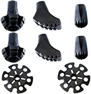 Alafen Replacement Rubber Tips Set for Trekking Poles-4 Pairs Style of Heavy-Duty Durable Feet for Hiking Pole