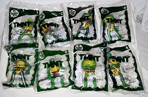 Mcdonalds 2007 Tmnt Set of 8 ,Teenage Mutant Ninja Turtles Warner Bros Happy Meal Toys (Mcdonalds Ninja Turtle Toys)
