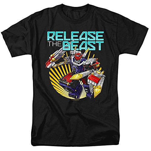Power Rangers Beast Release Unisex Adult T Shirt for Men and Women, Large Black
