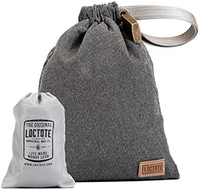 LOCTOTE AntiTheft Sack 3L – The Packable Portable Safe Anti-theft Lockable Slash-Resistant Vintage Grey