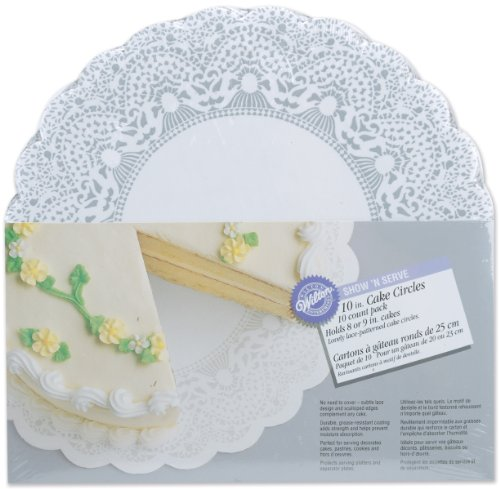 Wilton 10-Inch Show 'N Serve Cake Board, 10-Pack