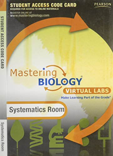 MasteringBiology without Pearson eText for -- Virtual Lab Systematics Room -- Standalone Access Card