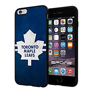 Toronto Maple Leafs 5 WADE4695 NHL iPhone 6+ 5.5 inch Case Protection Black Rubber Cover Protector