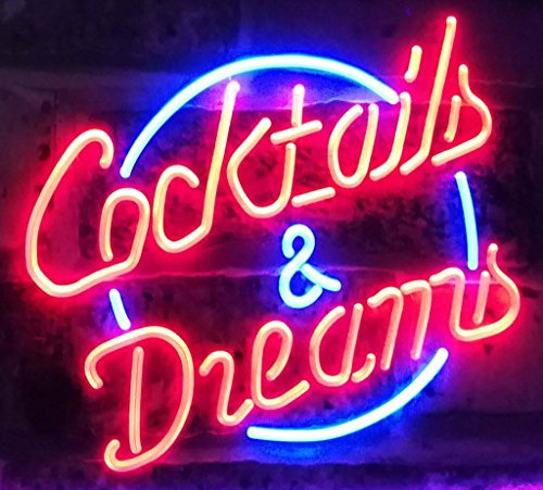AdvpPro 2C Cocktails & Dreams Bar Beer Wine Drink Pub Club Dual Color LED Neon Sign Blue & Red 12