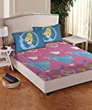 Athom Trendz Disney Princess 104 TC Cotton Double Bedsheet with 2 Pillow Covers - Modern, Grey