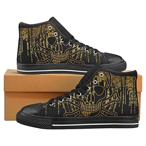 InterestPrint InterestPrint skull Men High Shoes Top for Canvas skull Classic PdwwC5Uq